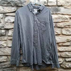 Levi's Black and Blue Checked XL Button Down Shirt